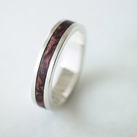 Native Silver And Wood Ring