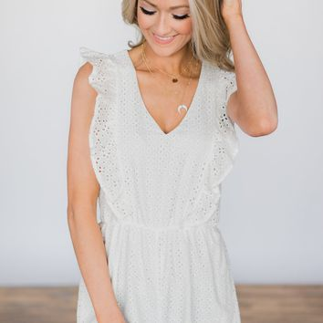 Simple Love Ivory Romper