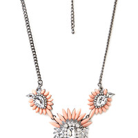 Ornate Faux Stone Necklace