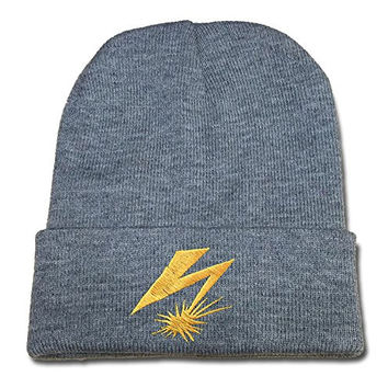 JIAQ Bad Brains Band Stencil Beanie Embroideryies Knitted Hats Caps