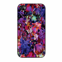 Lush Floral Pattern Beaming Orchid Purple iPhone 4 Case