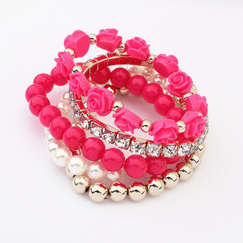 Great Deal Gift New Arrival Awesome Hot Sale Shiny Korean Stylish Bangle Stretch Accessory Bracelet [6573088135]