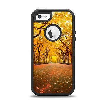 The Fall Back Road Apple iPhone 5-5s Otterbox Defender Case Skin Set