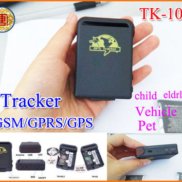 Mini Spy Vehicle Realtime Tracker For GSM GPRS GPS System Tracking Device TK102 free shipping