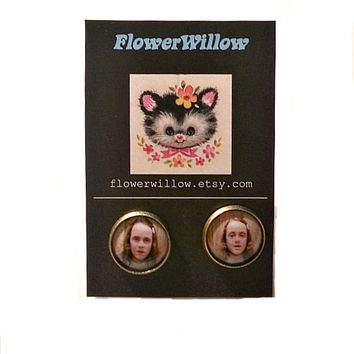 The Shining Twins Grady Twins Diane Arbus Stud Earrings Come Play With Us Danny