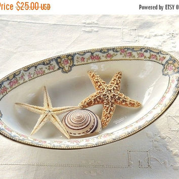 On Sale Noritake Portland Relish Dish, Pink Roses Gold Trim, Cottage Style, Candy/Relish Dish, Tea Party, Wedding Gifts, Ca. 1930's