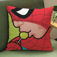 Popping Spiderman pillow