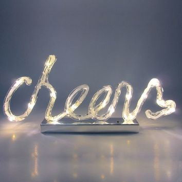 Light-Up Cheers Sign 13in x 5 3/4in | Party City