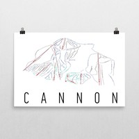 Cannon Ski Trail Map Poster