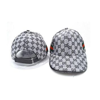 Gucci baseball cap male red with stylish plaid hat Gray