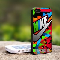 Nike Just Do It Colorful - For iPhone 5 Black Case Cover