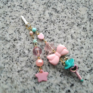 Sailor Moon Cell Phone Charm - Sailor NEPTUNE Wand, phone charm - Dust plug, phone strap, 3DS charm