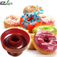 Plastic DIY Donut Maker Cutter Mold Fondant Cake Bread Desserts Bakery Mould Baking Tools Kitchen Accessories CHW2751