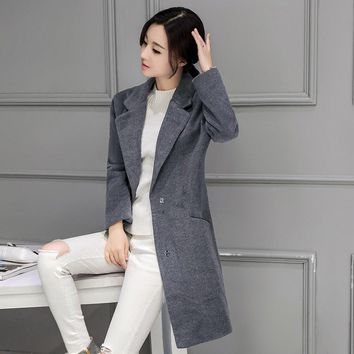 Oversized Wool Coat With Quilting Winter Warm coats abrigos mujer Grey Camel Long Thick Women Wool Coats Plus Size MZ831