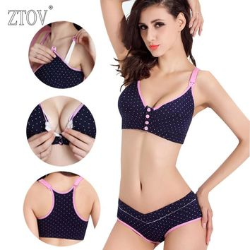 Maternity Nursing Front Closure Bra + Panties Set