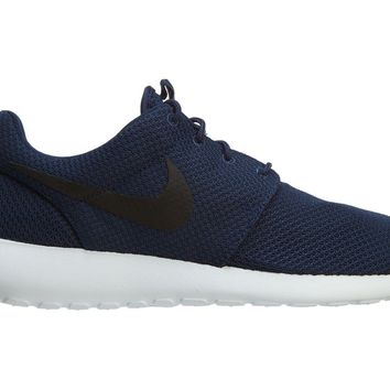 Nike Roshe One Mens 511881-405 Midnight Navy Blue Mesh Running Shoes Size 9.5