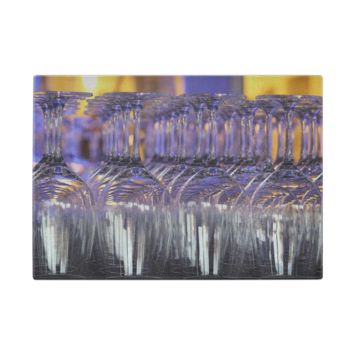Wine Glasses-Glass Cutting Board