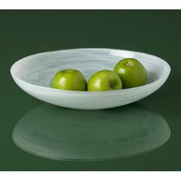 Shiraleah Home Decor: alabaster shallow bowl - glacier