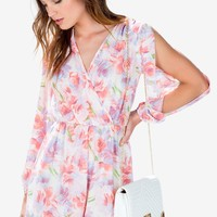 Peach Dream Floral Romper