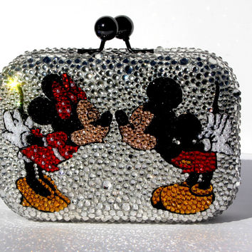 Mickey and Minnie Mouse Crystal Clutch