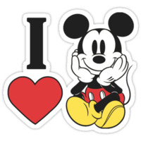 I heart love Mickey Mouse Hoodie (Pullover)