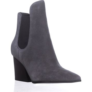 KENDALL + KYLIE Finley Pointed-Toe Ankle Booties, Gray Multi Suede, 8 US
