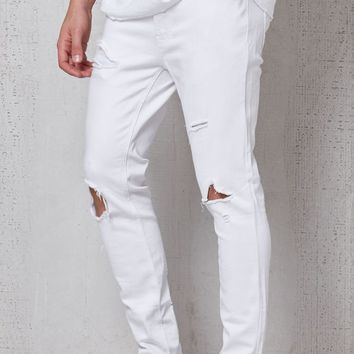 PacSun Skinniest Destroyed White Stretch Jeans at PacSun.com