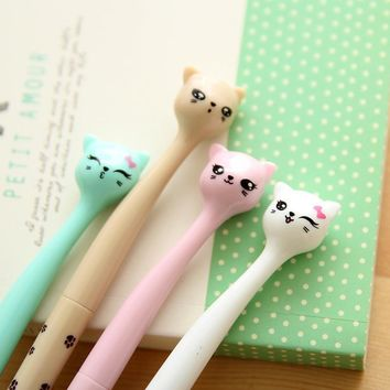 4 Pcs Kawaii Kitty Cat Gel Pens for School