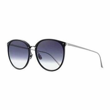 Linda Farrow Acetate & Titanium Gradient Butterfly Sunglasses