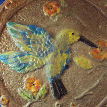 Hummingbird Wall Hanging ooak