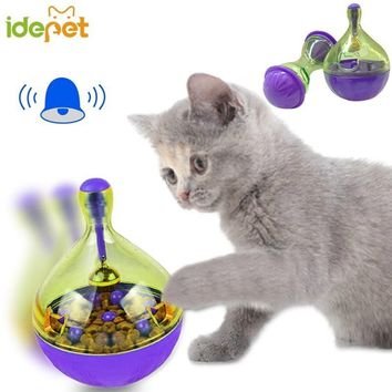 Cats Fun Bowl Feeder Cat Feeding Pets Cats Tumbler Leakage Food Ball Pet Training Exercise Fun Bowl Small 35s2