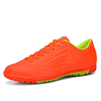 2016 New Football Boots Turf Soccer Shoes For Men Children Leather Soccer Tf Shoes Kids Soccer Cleats Training Football 2016