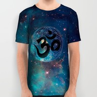 Om & Flower of Life All Over Print Shirt by Bluepress