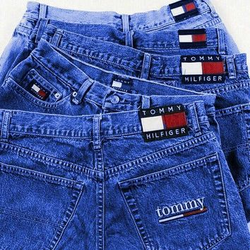 Tommy Jeans Tommy Hilfiger Shorts Jeans Women High Waist Denim Shorts B-KWKWM Dark blue