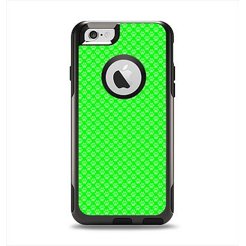 The Subtle Green Paw Prints Apple iPhone 6 Otterbox Commuter Case Skin Set