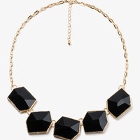 Faceted Faux Stone Necklace