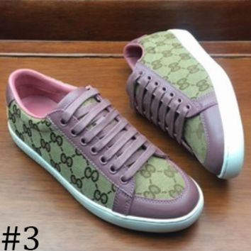 GUCCI 2018 autumn and winter new fashion flat round head wild casual shoes F0890-1 #3