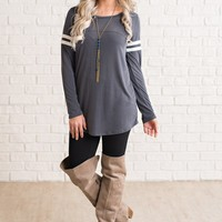 Elle Basic Top (Charcoal)