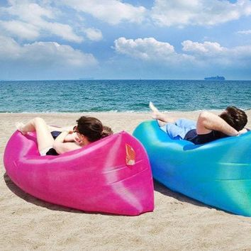 DKF4S Inflatable Air Sofa Air Bed Waterproof Sleeping Bag Camping Beach Sofa Lounger Bed High Quality Lazy Bags Undertake 200kgs
