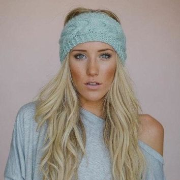 Crochet Knit Ear Warmer Head-wrap (9 COLORS)