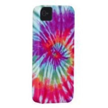 Pink Spiral Tie-Dye Case-Mate iPhone 4 Iphone 4 Case