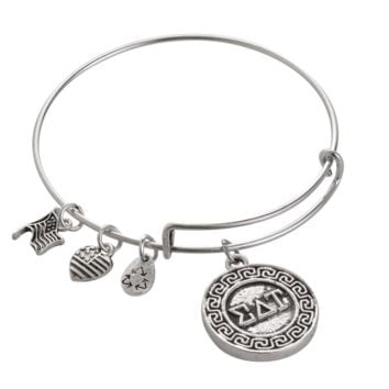 Alex and Ani style Sigma Delta Tau pendant charm bracelet,a perfect gift !