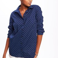 Classic Button-Front Shirt for Women | Old Navy