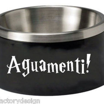Harry Potter decal Aguamenti Water Making Spell Perfect For Dog or Cat Water