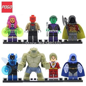 DC Super Hero Figure Saturn Girl Starfire Raven Robin Killer Croc Single Sale Models Building Blocks Sets Toys Compatible