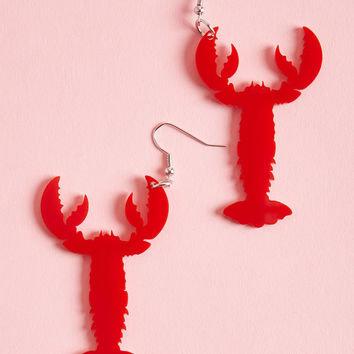Collectif Head Above Lobster Earrings