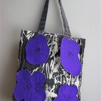 Large Andy Warhol Flowers Canvas Tote Bag