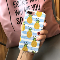 Summer Pineapple Case for iPhone 6 6s Plus & iPhone 7 Plus +Gift Box