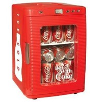 Koolatron KWC-25 Coca-Cola 28-Can-Capacity Portable Fridge with LED Display