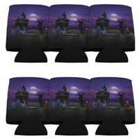 Halloween Party 'Haunted House' Can Cooler Set 6